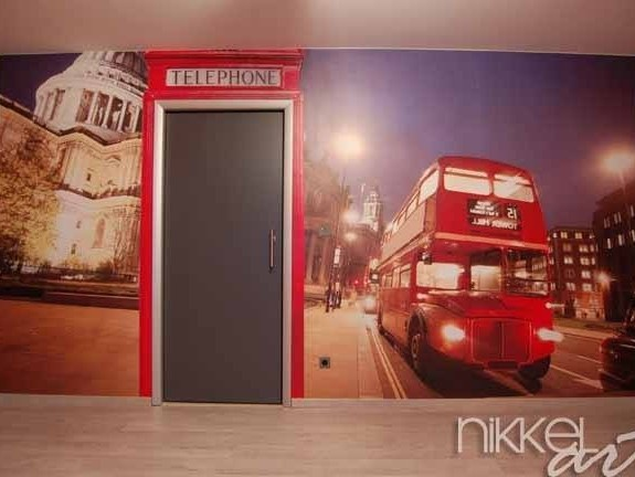 papiers peints londres bus rouge. Black Bedroom Furniture Sets. Home Design Ideas