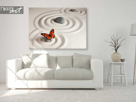 Photo sur Toile Zen pierres a sable