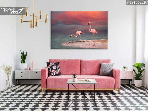 Photo sur Toile Flamants roses